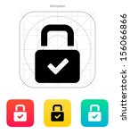 padlock icon. vector...