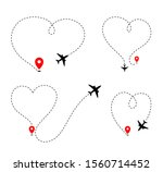 airplane track to point with...   Shutterstock .eps vector #1560714452