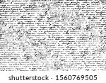grunge texture of illegible... | Shutterstock .eps vector #1560769505