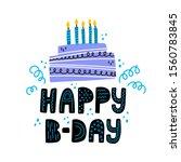 happy birtday hand drawn... | Shutterstock .eps vector #1560783845