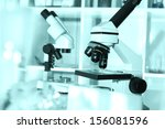 modern  microscopes in a lab... | Shutterstock . vector #156081596