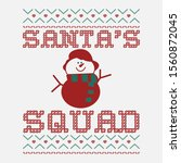 funny christmas graphic print ... | Shutterstock .eps vector #1560872045