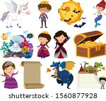 set of isolated objects theme... | Shutterstock .eps vector #1560877928