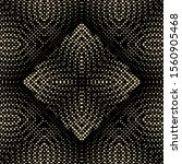 dotted halftone gold 3d vector... | Shutterstock .eps vector #1560905468