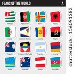 vector set of flags world...   Shutterstock .eps vector #156091382