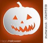 jack o' lantern concave... | Shutterstock .eps vector #156095558