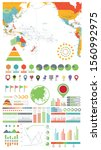 pacific ocean map and... | Shutterstock .eps vector #1560992975