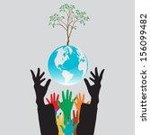eco energy over gray background ... | Shutterstock .eps vector #156099482