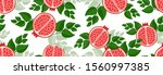 sketched hand drawn pomegranate ... | Shutterstock .eps vector #1560997385