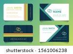 horizontal business card... | Shutterstock .eps vector #1561006238