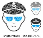 evil soldier face composition... | Shutterstock .eps vector #1561010978