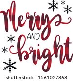 merry and bright   illustration ... | Shutterstock .eps vector #1561027868