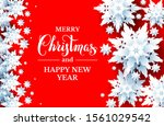 hot holiday realistic paper cut ... | Shutterstock .eps vector #1561029542