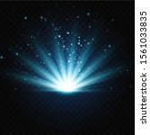 vector illustration of a blue... | Shutterstock .eps vector #1561033835