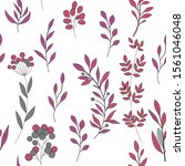 texture with flowers and plants.... | Shutterstock .eps vector #1561046048