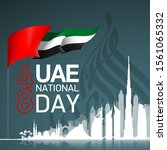 48 uae national day banner with ... | Shutterstock . vector #1561065332