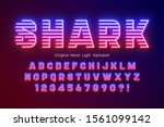 multicolor neon light 3d...   Shutterstock .eps vector #1561099142