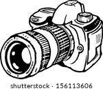 vector cartoon of a single lens ...   Shutterstock .eps vector #156113606