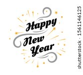 happy new year 2020 on white... | Shutterstock .eps vector #1561146125