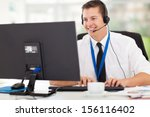 handsome technical support...   Shutterstock . vector #156116402
