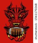 dragons football team mascot... | Shutterstock .eps vector #1561170268