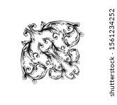 decorative elegant royal... | Shutterstock .eps vector #1561234252