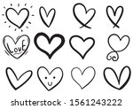 collection set of hand drawn... | Shutterstock .eps vector #1561243222