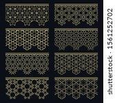 set of golden seamless borders  ... | Shutterstock .eps vector #1561252702