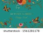 autumn garden. vector... | Shutterstock .eps vector #1561281178