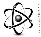 vector black atom icon | Shutterstock .eps vector #156131516