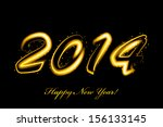 vector 2014 new year glowing | Shutterstock .eps vector #156133145