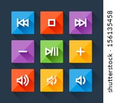 set of media player buttons in...