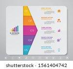 5 steps infographics chart... | Shutterstock .eps vector #1561404742