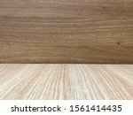 empty of brown wooden table and ... | Shutterstock . vector #1561414435