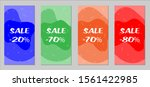 sale flyers. set of vintage...   Shutterstock .eps vector #1561422985