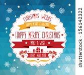 poster merry christmas... | Shutterstock .eps vector #156142322