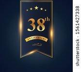 38 anniversary celebration... | Shutterstock .eps vector #1561427338