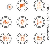 set of currency icons isolated... | Shutterstock .eps vector #1561439878