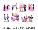 project managers set. office... | Shutterstock .eps vector #1561443478