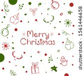 christmas card with inscription ...   Shutterstock .eps vector #1561446658