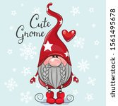 greeting christmas card cute... | Shutterstock .eps vector #1561495678