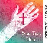 abstract background left hand... | Shutterstock .eps vector #156150155