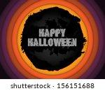 halloween background circle... | Shutterstock .eps vector #156151688
