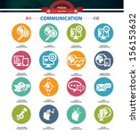 communication concept icons... | Shutterstock .eps vector #156153632