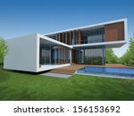 3d render of tropical modern... | Shutterstock . vector #156153692