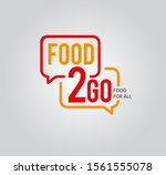 food 2 go restaurant food logo...   Shutterstock .eps vector #1561555078