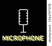 microphone outline icon for web ...