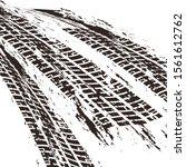 brown tire marks pattern on... | Shutterstock .eps vector #1561612762