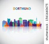 dortmund skyline silhouette in...   Shutterstock .eps vector #1561660675