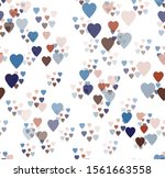 multi colored hearts   blue ... | Shutterstock .eps vector #1561663558